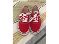 Red Kids Vans