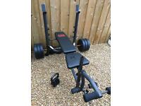 Pro power weight lifting bench weights