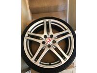 "19"" FN2 Honda Civic Tyre R Rage Alloys with Tyres"
