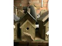 Rustic slate bird box