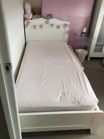 Next white single bed