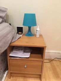 x2 bedside table and x1 lamp