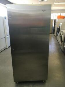198- Neuf/New Refrigerateur Legumier Stainless Whirlpool 30'' Fridge