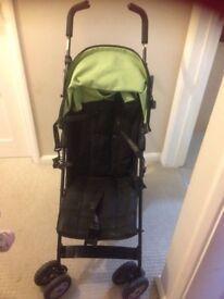 buggy stroller pushchair baby toddler kids black