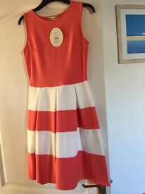 Brand new with tags white and peach dress