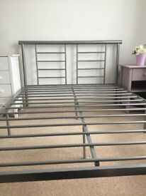 Lynx Low Foot End Bed Frame in metal silver £50