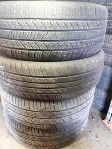225/55/18 Four used tires