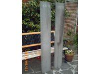 A pair of aluminium ramps
