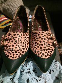Irregular choice kitten heels size 7