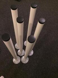 Adjustable table legs brand new