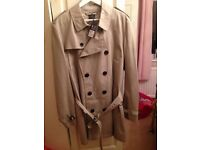 Mens Burberry Brit trench coat XL, short, brand new and authentic