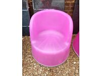 Bright Pink Plastic chair