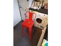 Red high backed metal bar stool - *Perfect Conditon*