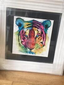 Patrice Murciano White Framed Tiger