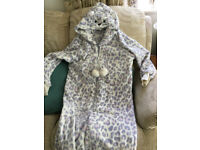 Onesie - Ladies, size 14/16. Snow leopard. Washable. Never worn - excellent condition.
