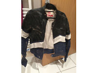Beaten up looking leather jacket by Sixty