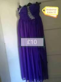 Bridesmaid/prom dress size 12