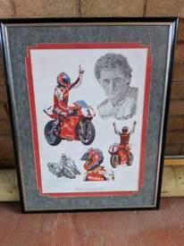 Carl Fogarty Framed Signed Print
