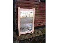 Vintage crystal mirror into reclaimed not painted oak frame