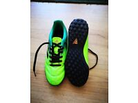Hardly Worn Green Adidas football boots size 4