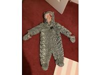 6-9 Months girls BABY BUNDLE including super fluffy pramsuit