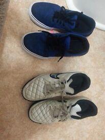 Boys size 5 2 pairs Nike shoes