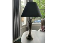 Two chrome table lamps 97cm with lamp shade. £135 each or £250 for both