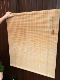 3 x Wooden rattan type roman blinds