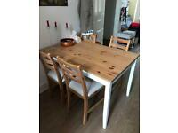 Ikea solid table +chairs