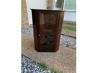 Stag corner glass display cabinet top unit
