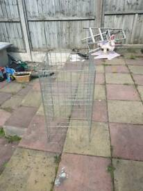 Advertising cage for car boot sale or car boot sale