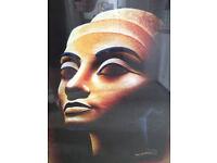 Stunning Papyrus of Queen Nefertiti - Huge!