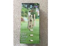 Brand new in box wooden wind chime