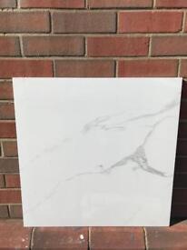 Sublime carrara marble effect tile 60x60