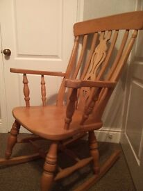 Pine Rocking Chair - ideal for nursery - selling due to granddaughter not needing anymore