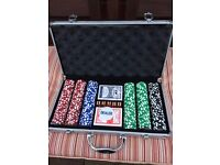 Poker Chips & Carrying Case