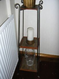 Storage/Display stand - wrought iron and rattan