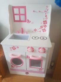 Toy wooden kitchen