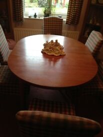 Oval Teak Dining Table with 6 Chairs