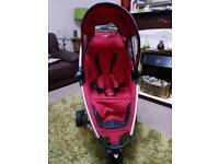 Quinny Zapp buggy/pushchair red with carry bag
