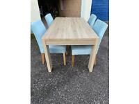 Next extendable table and chairs