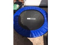 Mini trampoline rubber missing off 1 foot nearly new £10