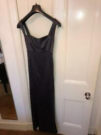 Beautiful silky evening gown/dress size 12 excellent condition