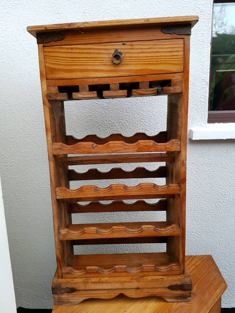 Tall wine rack. Mexican solid pine