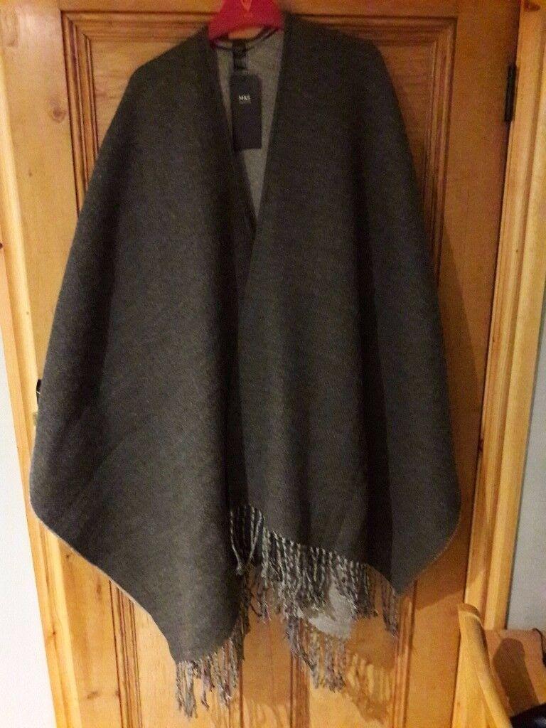 Ladies M & S Wrap Charcoal Grey - Brand New