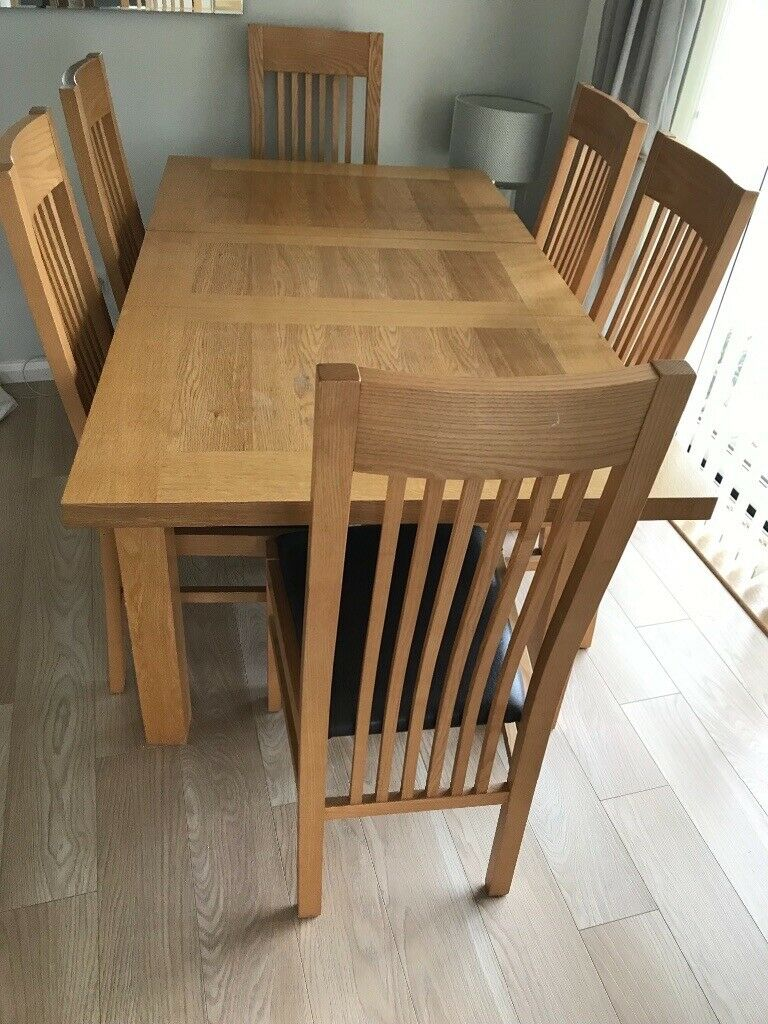 DFS Wooden dining Table & 6 chairs | in Dronfield ...