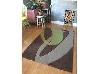 Grey, green, brown rug 120cm x 170 cm for sale in East London