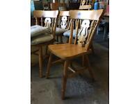 4x pine Farmhouse Dining Chairs