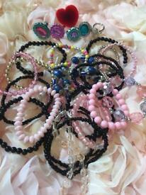 Various girls/ kids bracelets, rings, mirror, purse, perfumes, sunglasses, tins, watches, rings
