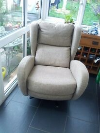 Armchair - 360 degree Swivel and Tilt action - Excellent Quality - Beige